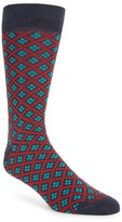 Lorenzo Uomo Men's Plus Pattern Crew Socks