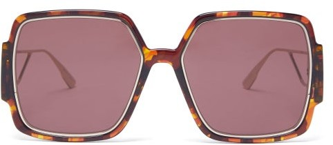 Thumbnail for your product : Christian Dior 30montaigne2 Square Acetate Sunglasses - Tortoiseshell