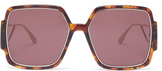 Christian Dior 30montaigne2 Square Acetate Sunglasses - Tortoiseshell