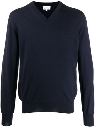 Brioni long-sleeve fitted jumper