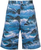 Givenchy waves print Bermuda shorts - men - Cotton - 46