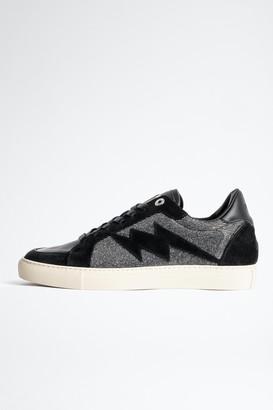 Zadig & Voltaire ZV1747 Board Sparkle Suede Sneakers