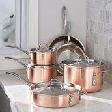Crate & Barrel Calphalon Tri-Ply Copper 10-Piece Cookware Set