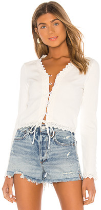 Line & Dot Arcadia Lace Trim Top