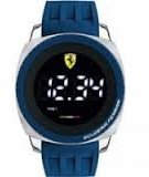 Ferrari Scuderia Aerodinamico Digital Dial Silicone Quartz Men's Watch 830226