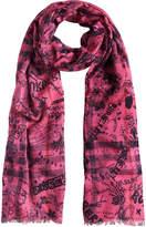 Burberry doodle print scarf