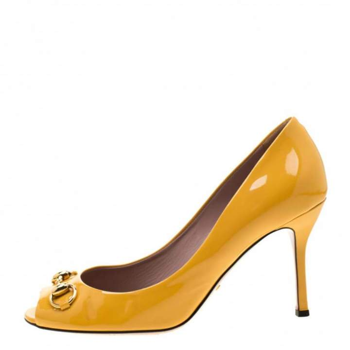 Gucci \\N Yellow Patent leather Heels