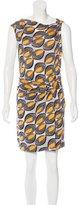 Diane von Furstenberg Printed Sleeveless Wrap Dress