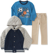 Kids Headquarters 3-Pc. Varsity Jacket, T-Shirt & Pants Set, Toddler Boys (2T-5T) & Little Boys (2-7)