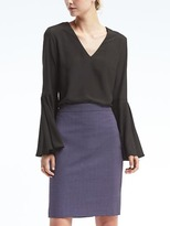 Banana Republic Easy Care Bell-Sleeve Top