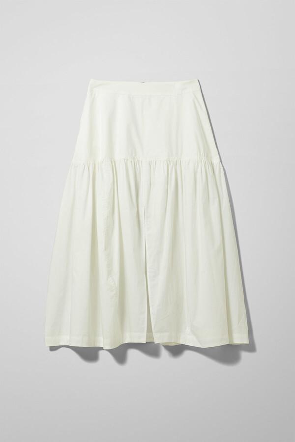Weekday Art Poplin Skirt - White