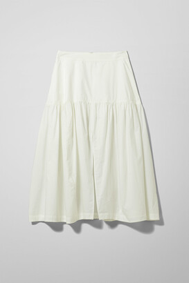 Weekday Art Poplin Skirt - White