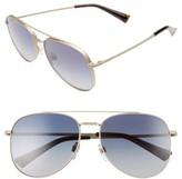 Valentino Garavani Women's Valentino 56Mm Aviator Sunglasses - Matte Light Gold/ Grey Crystal