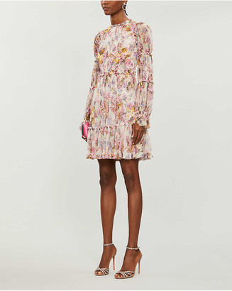 Needle & Thread x Jasmine Hemsley Harmony floral-print recycled tulle mini dress