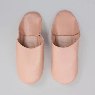 Bohemia Moroccan Babouche Slippers In Peach - Small