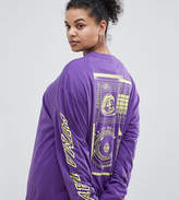 Puma Exclusive To ASOS Plus Long Sleeve T-Shirt With Neon Back Graphic In Purple