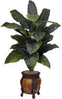 Asstd National Brand Nearly Natural Giant Spathiphyllum With Decorative Vase Silk Plant