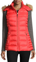 Kate Spade Packable Down Zip-Front Vest