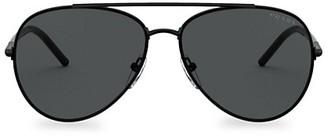 Prada 57MM Aviator Sunglasses