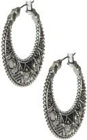 Lucky Brand Carved Hoop Earrings