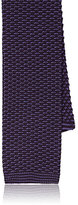 Barneys New York Men's Silk Crochet Necktie-Purple