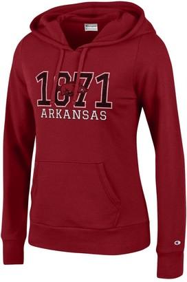 Champion NCAA Women's Comfy Fitted Sweatshirt University Fleece Hoodie Arkansas Razorbacks Small