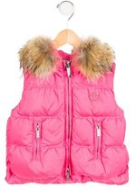 DSQUARED2 Girls' Fur-Trimmed Puffer Vest w/ Tags