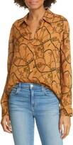 L'Agence Nina Chain Print Silk Blouse