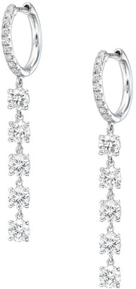 Anita Ko 18kt White Gold Diamond Huggie Hoop Earrings
