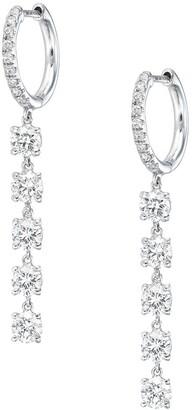 Anita Ko 18kt White Gold Diamond Huggie Hoop Earrings