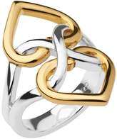 Links of London Infinite Love Silver & 18ct Gold Vermeil Heart Ring 5045.6543