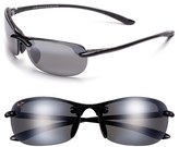 Maui Jim Women's 'Hanalei - Maui Evolution' 64Mm Rimless Sunglasses - Black