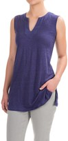 Artisan NY Linen High-Low Shirt - V-Neck, Sleeveless (For Women)