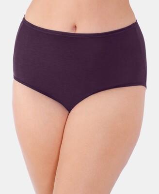 Vanity Fair Women's Illumination Plus Size Satin-Trim Brief Underwear 13811