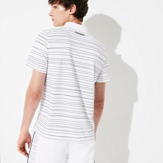 Lacoste Men's SPORT Striped Breathable Pique Tennis Polo