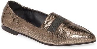 Brunello Cucinelli Metallic Pointed Toe Loafer