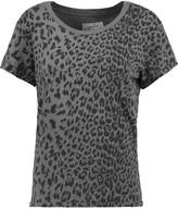 Current/Elliott The Crew Neck leopard-print cotton-jersey T-shirt