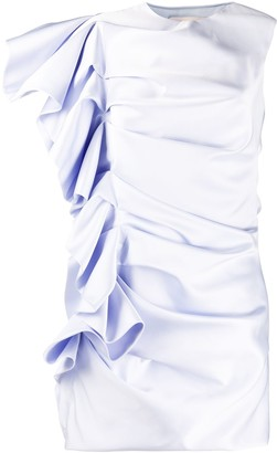 Alexandre Vauthier ruffled satin mini dress