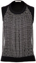 Bouchra Jarrar Knit Top with Silk Front Panel