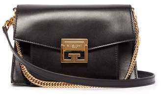 Givenchy Gv3 Small Suede And Leather Cross-body Bag - Womens - Black