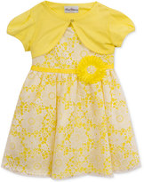 Rare Editions 2-Pc. Cardigan & Lace Dress Set, Toddler & Little Girls (2T-6X)