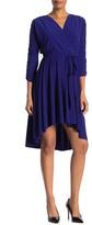 Eliza J Ruched High/Low Midi Dress