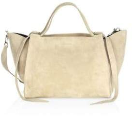 Elena Ghisellini Suede Leather Satchel