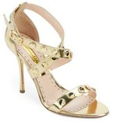 Rupert Sanderson Studded Metallic Leather Sandals