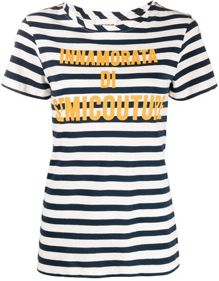 Semi-Couture striped logo T-shirt