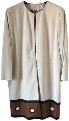 Non Signé / Unsigned Non Signe / Unsigned White Leather Coat for Women