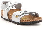 Birkenstock Girl's Rio Metallic Double Buckle Banded Sandals