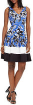 Lauren Ralph Lauren Floral Sateen V-Neck Dress