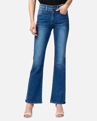 Express Flying Monkey High Waisted Bell Flare Jeans