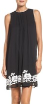 ECI Women's Embroidered Shift Dress